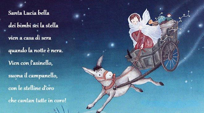 S. Lucia bella, dei bimbi sei la stella!