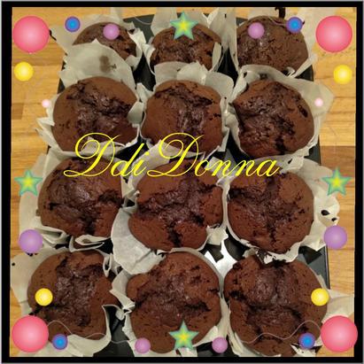 muffin al cioccolato d di donna