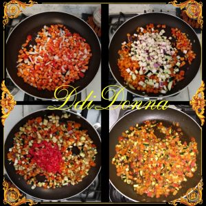 Ragù di verdure preparazione